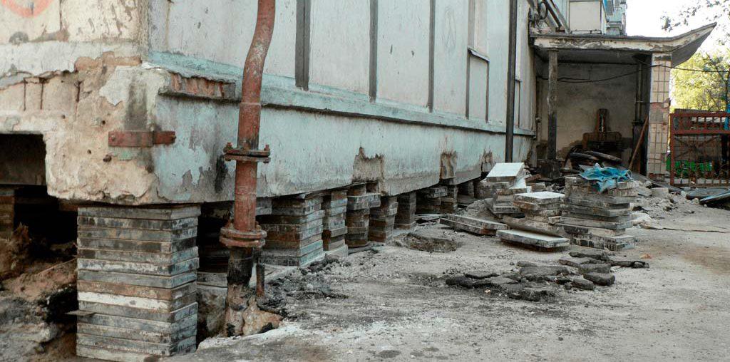 Алмазная резка канатом бетонного основания 9-ти этажного дома