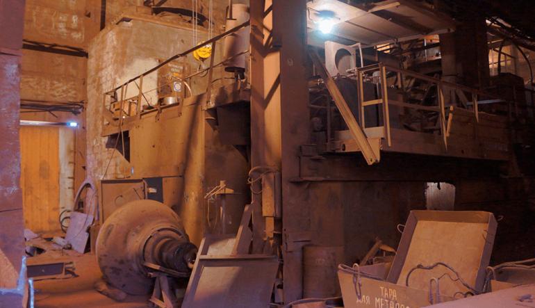 Резка фундаментов на железнорудном комбинате